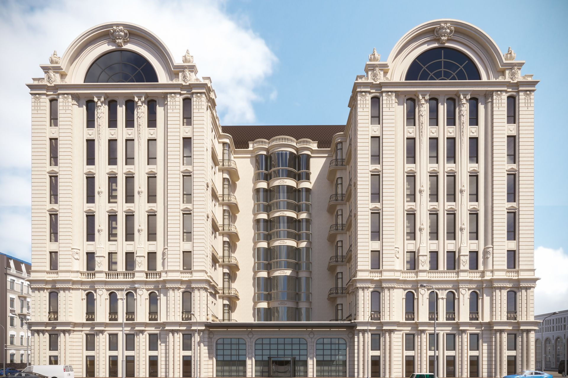 Wooden windows for the InterContinental Hotel