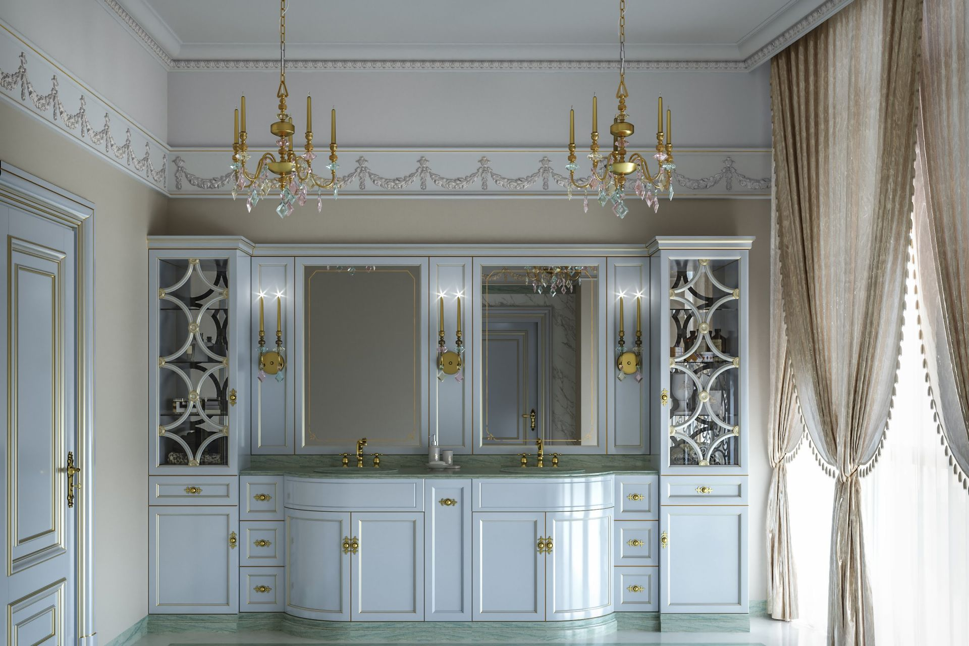 Neoclassical style bathroom