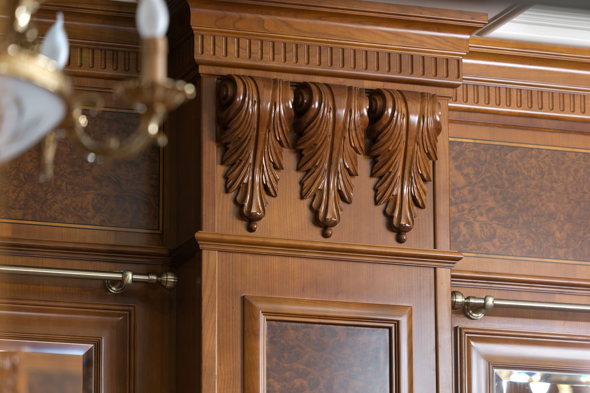 Carved corbel, wood carving
