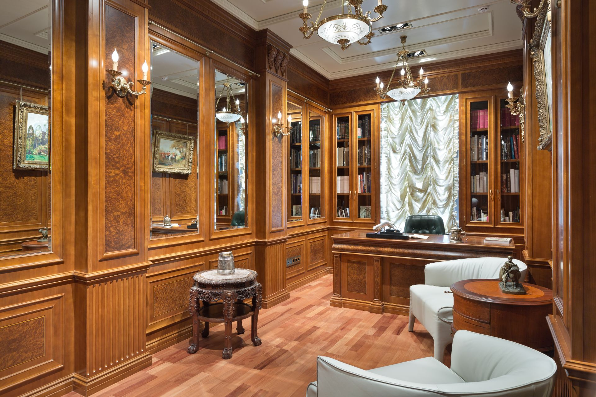 Boiserie production (wall paneling with wood)
