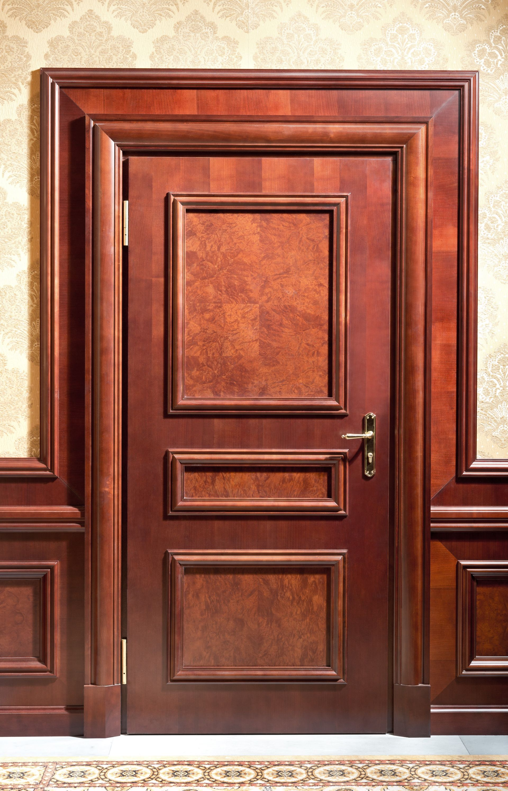 Wooden door at the Fairmont Grand Hotel