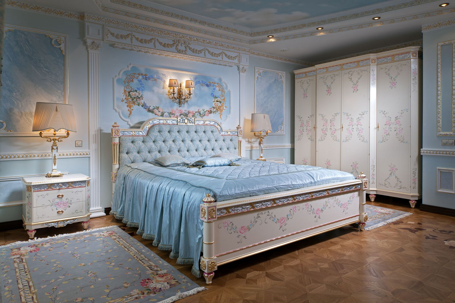 Bedroom Malvina in azure tones