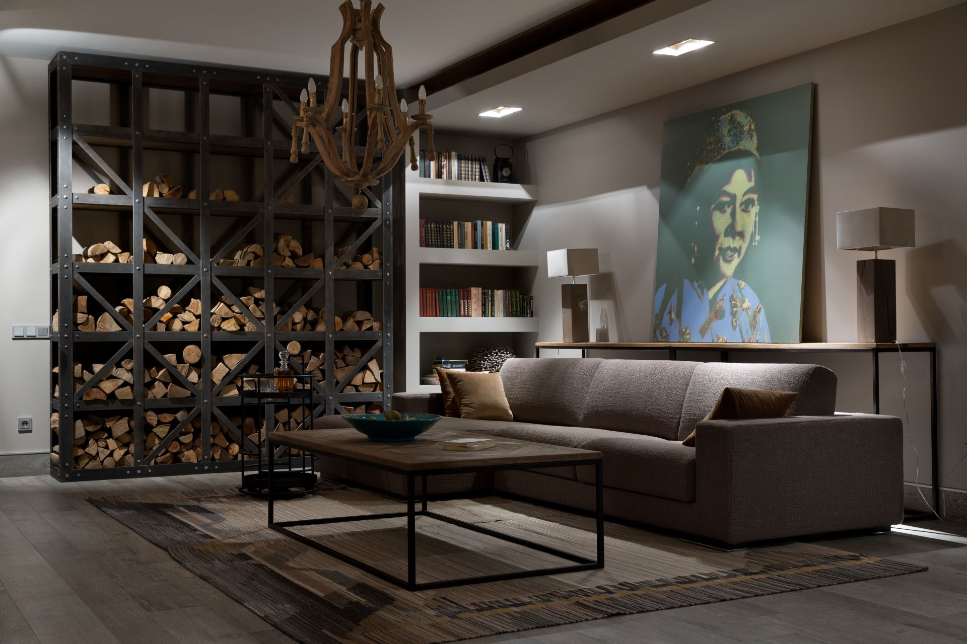 Ethnic style living room design