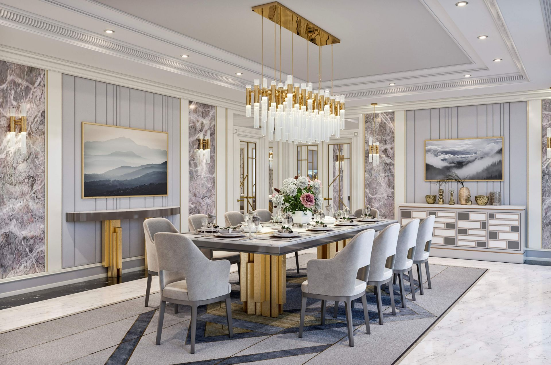 Interior Design Of The Living Dining Room In The Hilton Hotel