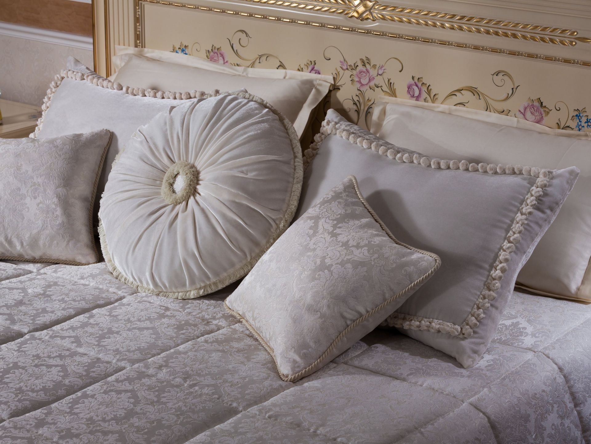 Decorative pillows for a bedroom