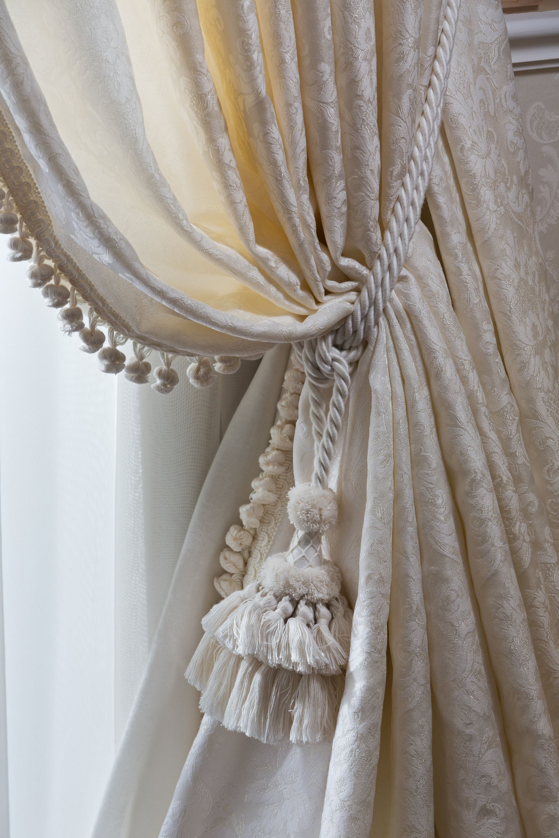Curtains with tieback