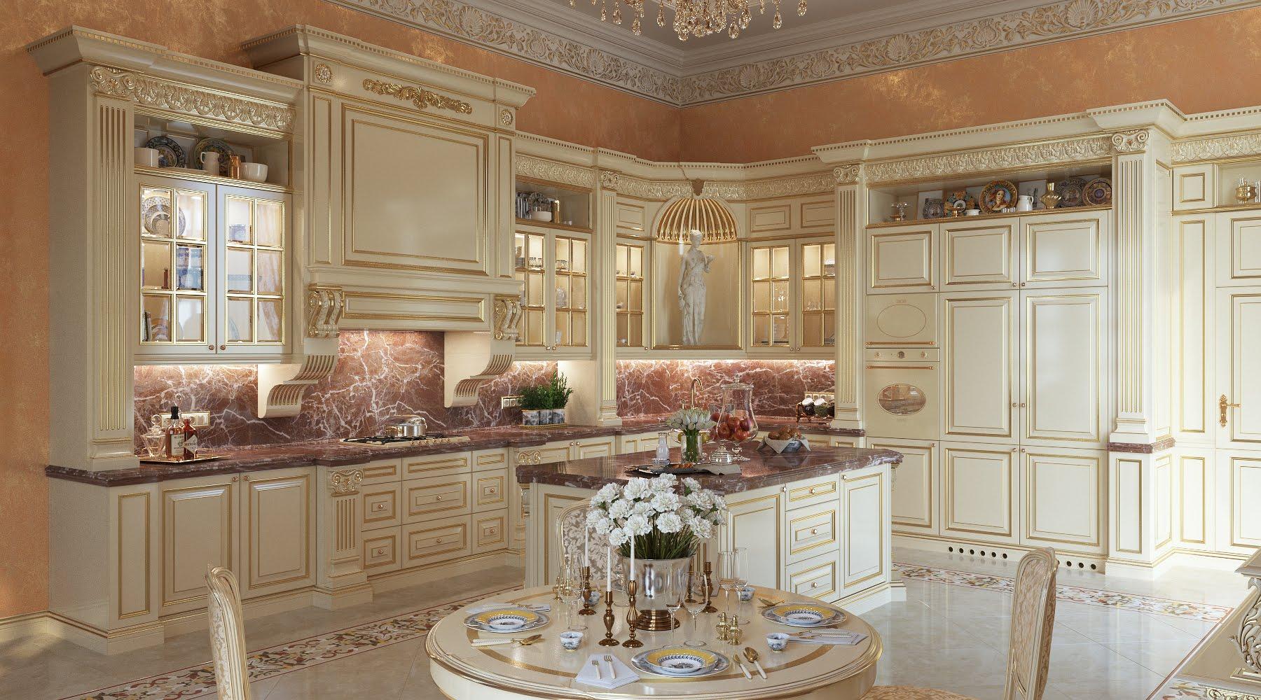 кухни с витринами в классическом стиле фото кустарники для дачи