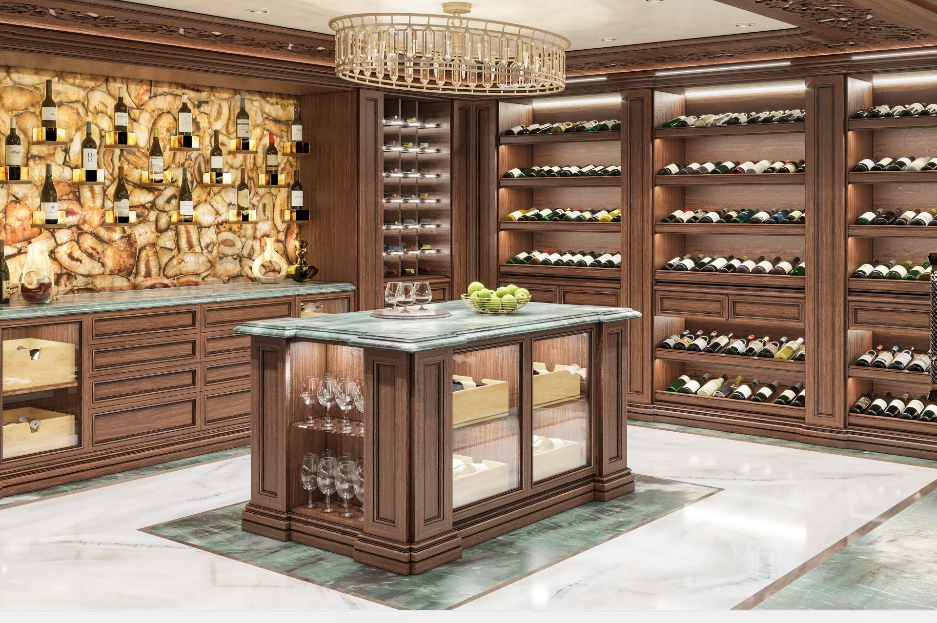 Wine cellar interior