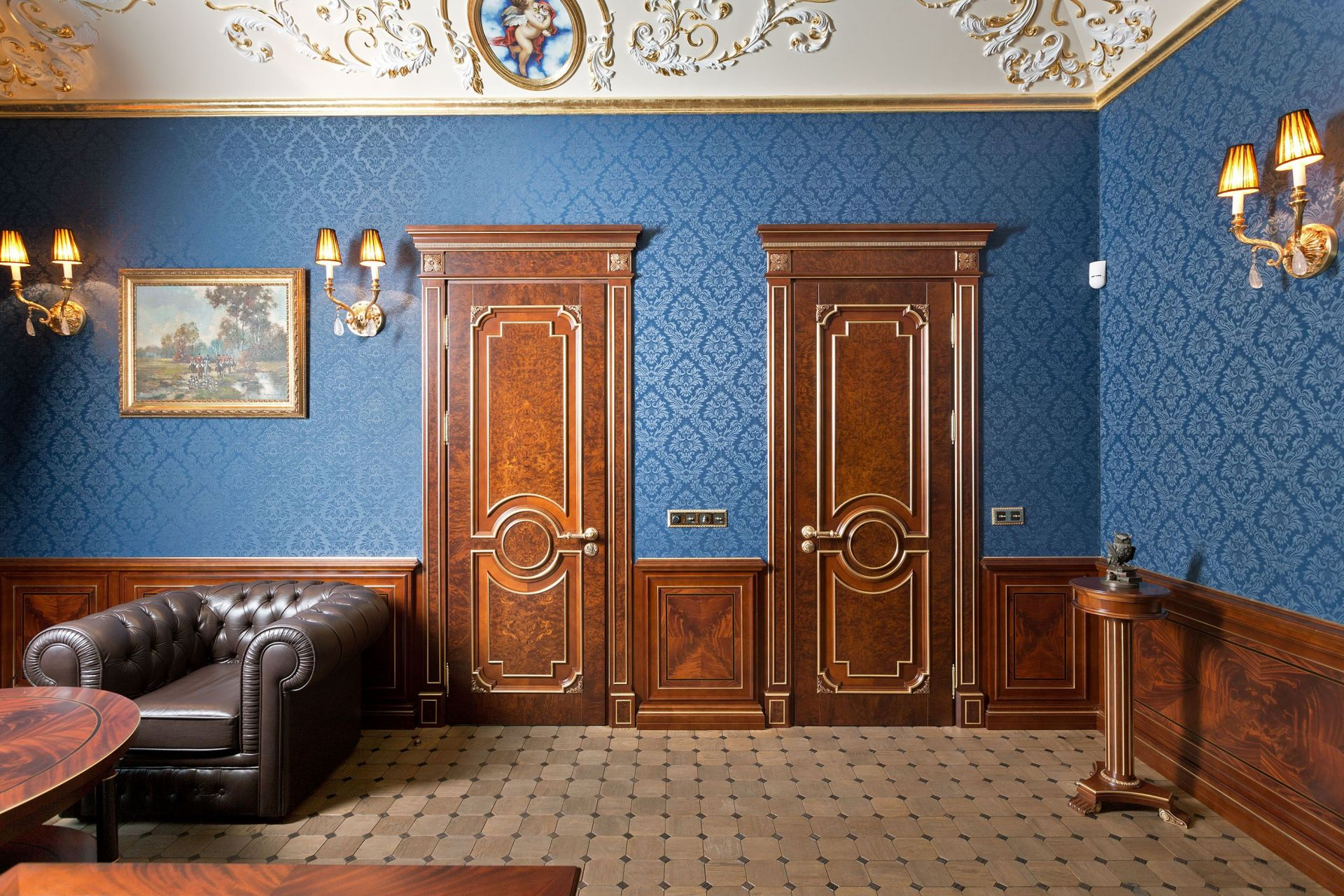 Study interior with baroque elements