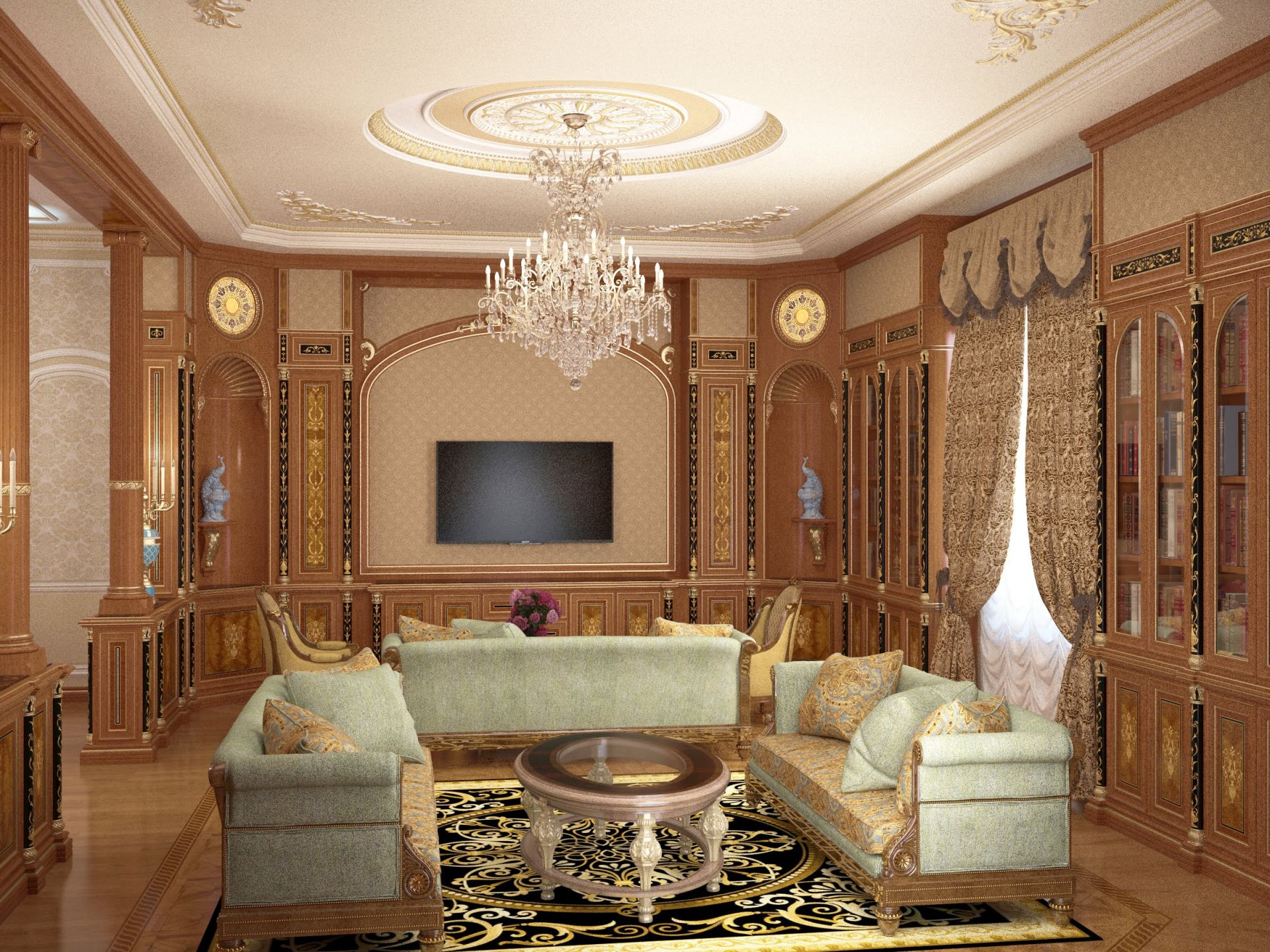 Living room in palace style