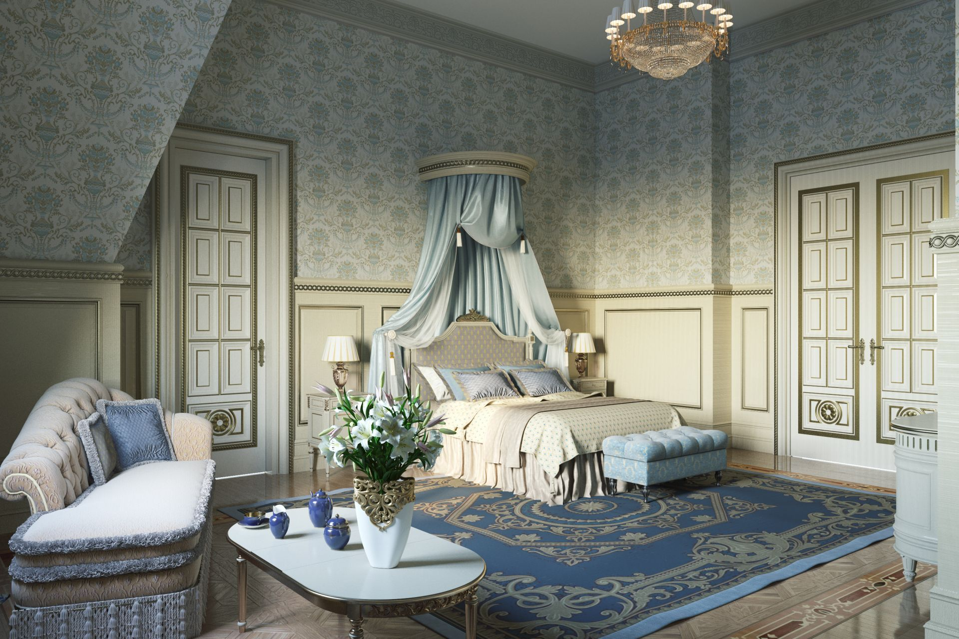 Bedroom in the residence