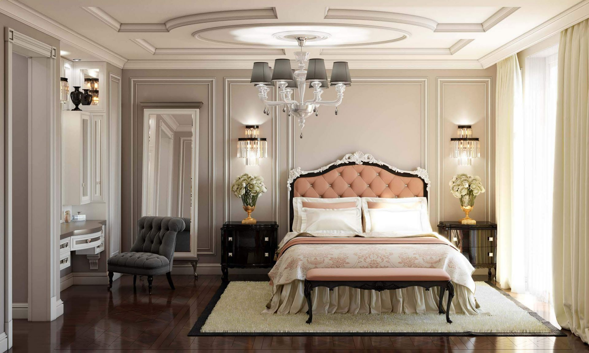 Design, Neoclassical style bedroom design