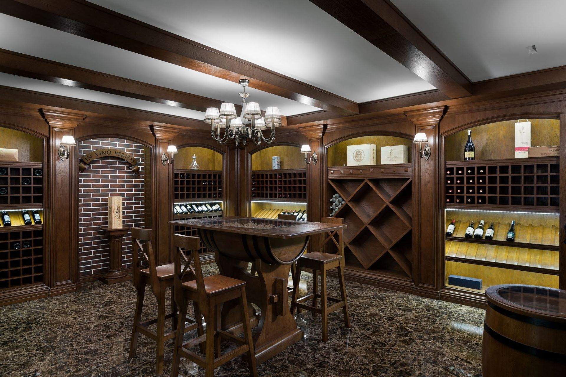 Wood, Wine room in a country house