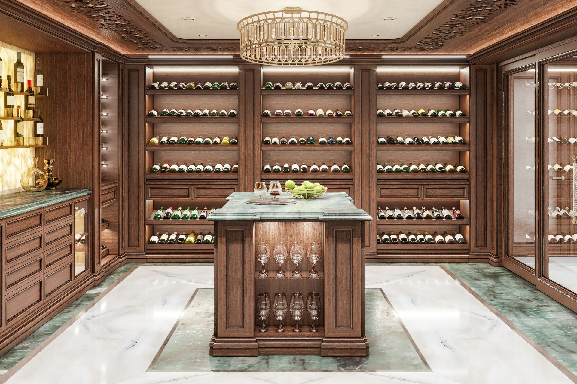 Stone, Wine cellar interior
