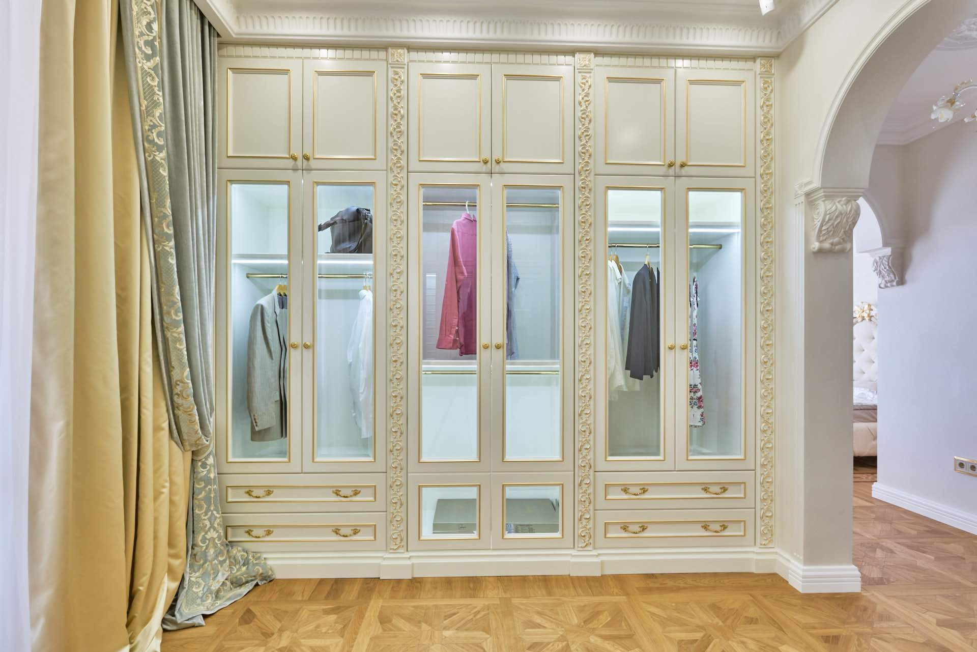 Design, Dressing room in a classic interior