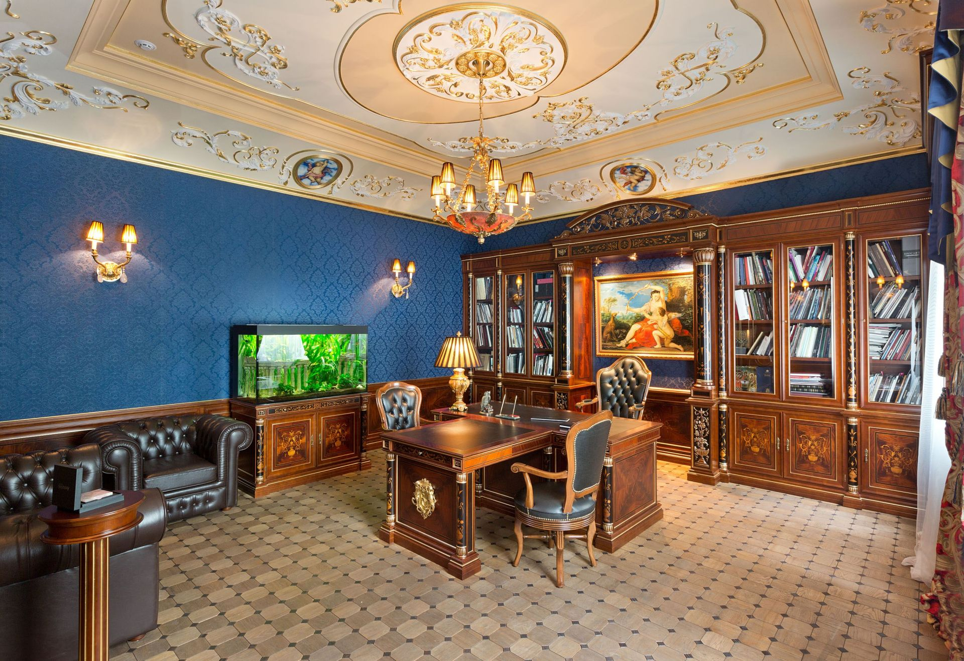 Design, Study interior with baroque elements