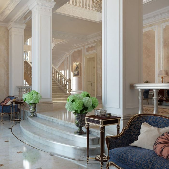 Front hall of a luxury residence