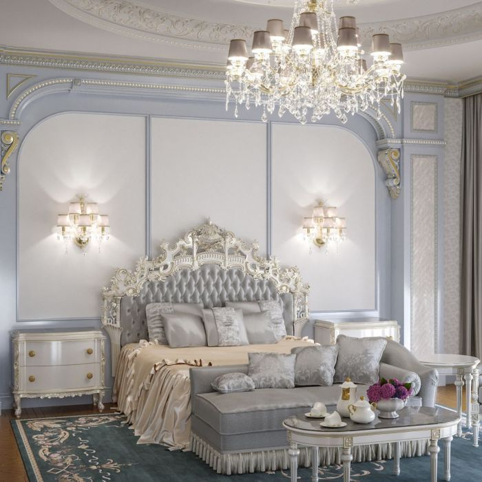 Luxurious light bedroom