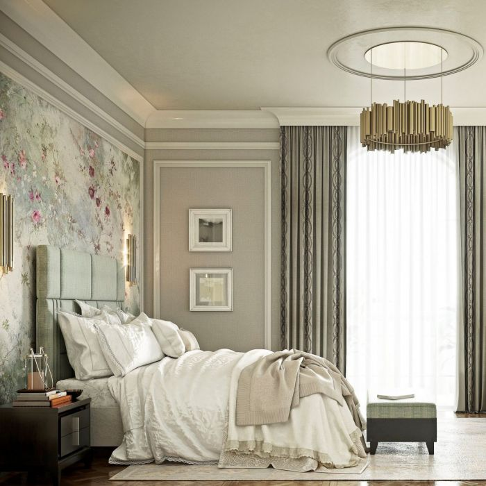 Bedroom in modern classic style