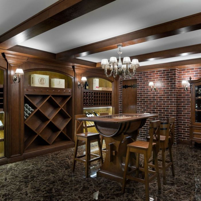 Wine room in a country house